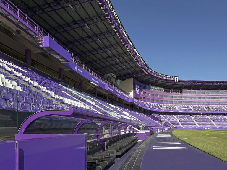 Stadion Valladolid: die effizienteste Weise der Verlegung von Fernsehkabeln