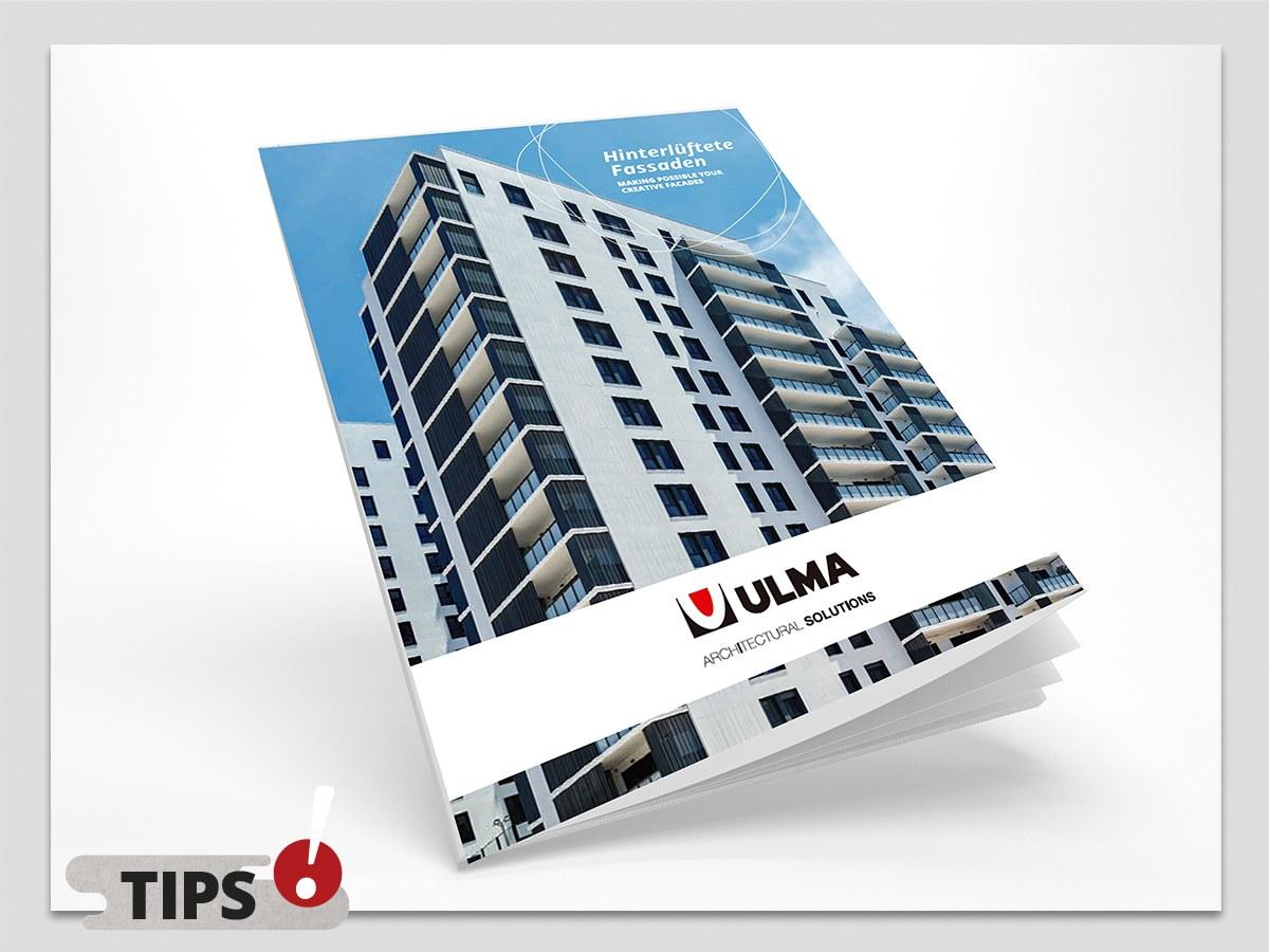Der neue Katalog der hinterlüfteten Fassaden auf Deutsch