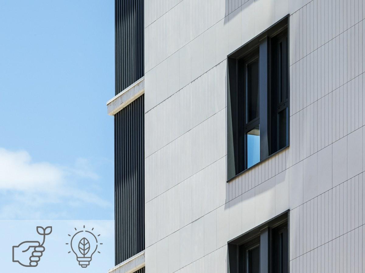 Hinterlüftete Fassaden reduzieren den Energieverbrauch Ihres Gebäudes um bis zu 30%.