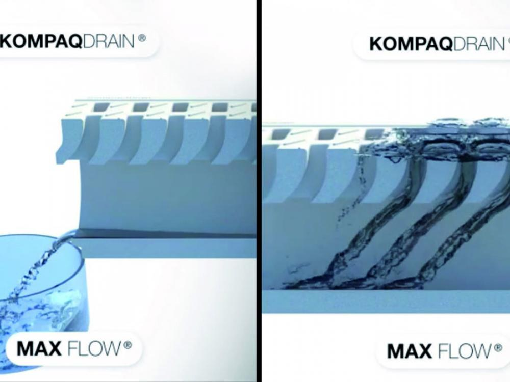 New KOMPAQDRAIN® compact channel