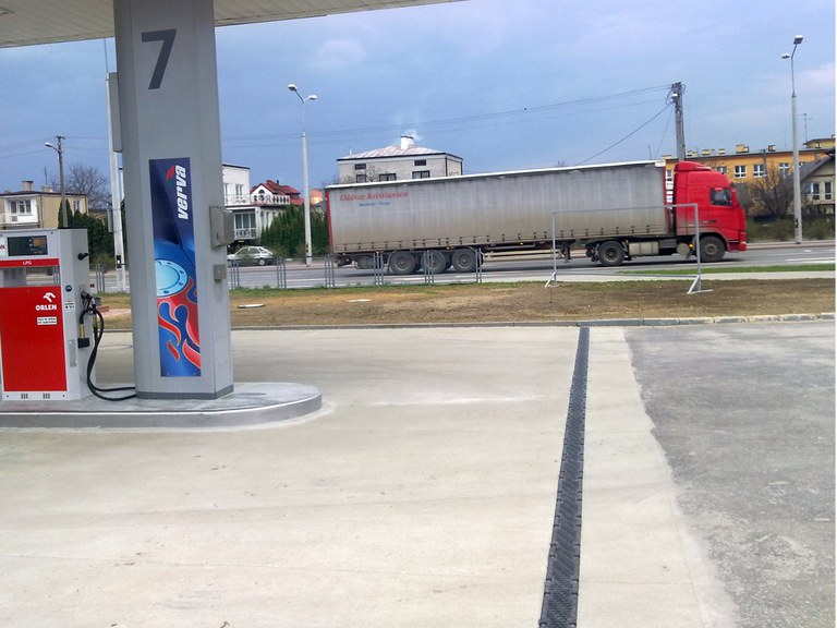 Gas Station at LUBLIN- POLAND
