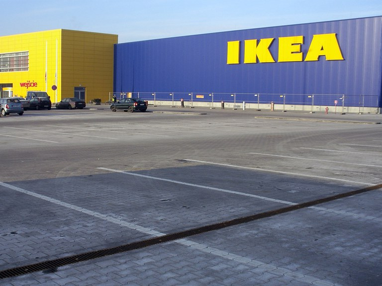 IKEA in Krakow- Poland with ULMA drainage system
