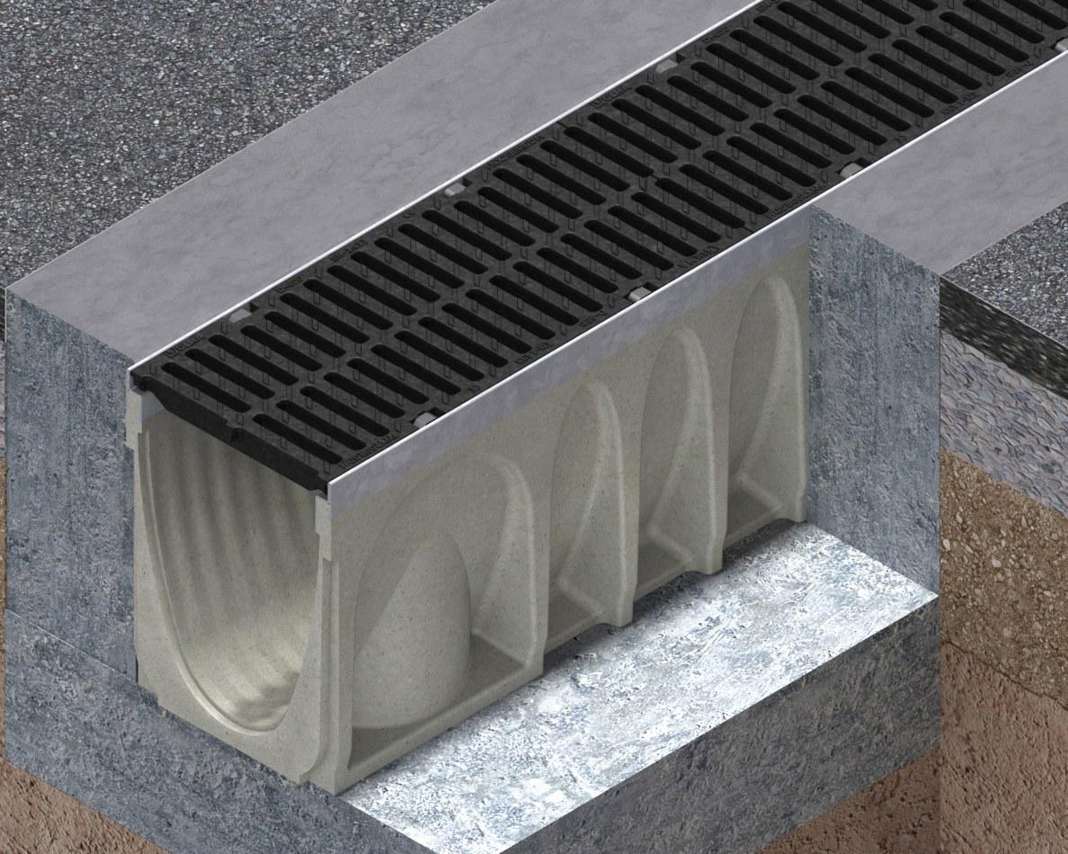 Driveway channel drain MultiV+
