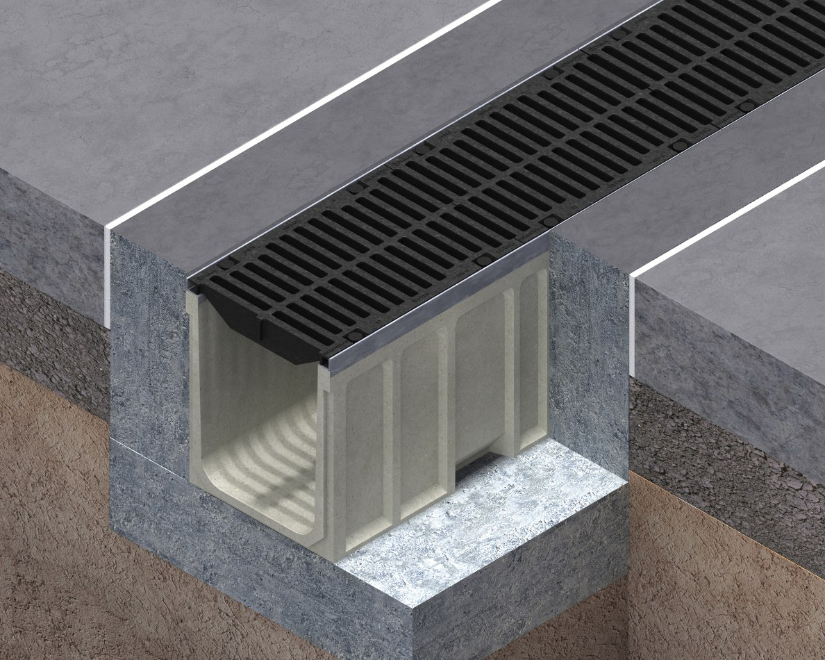 Heavy duty drainage channels CIVIL - F