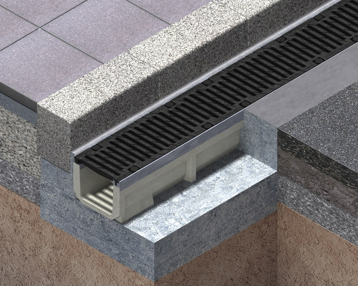 Heavy duty shallow channel drains CIVIL - S