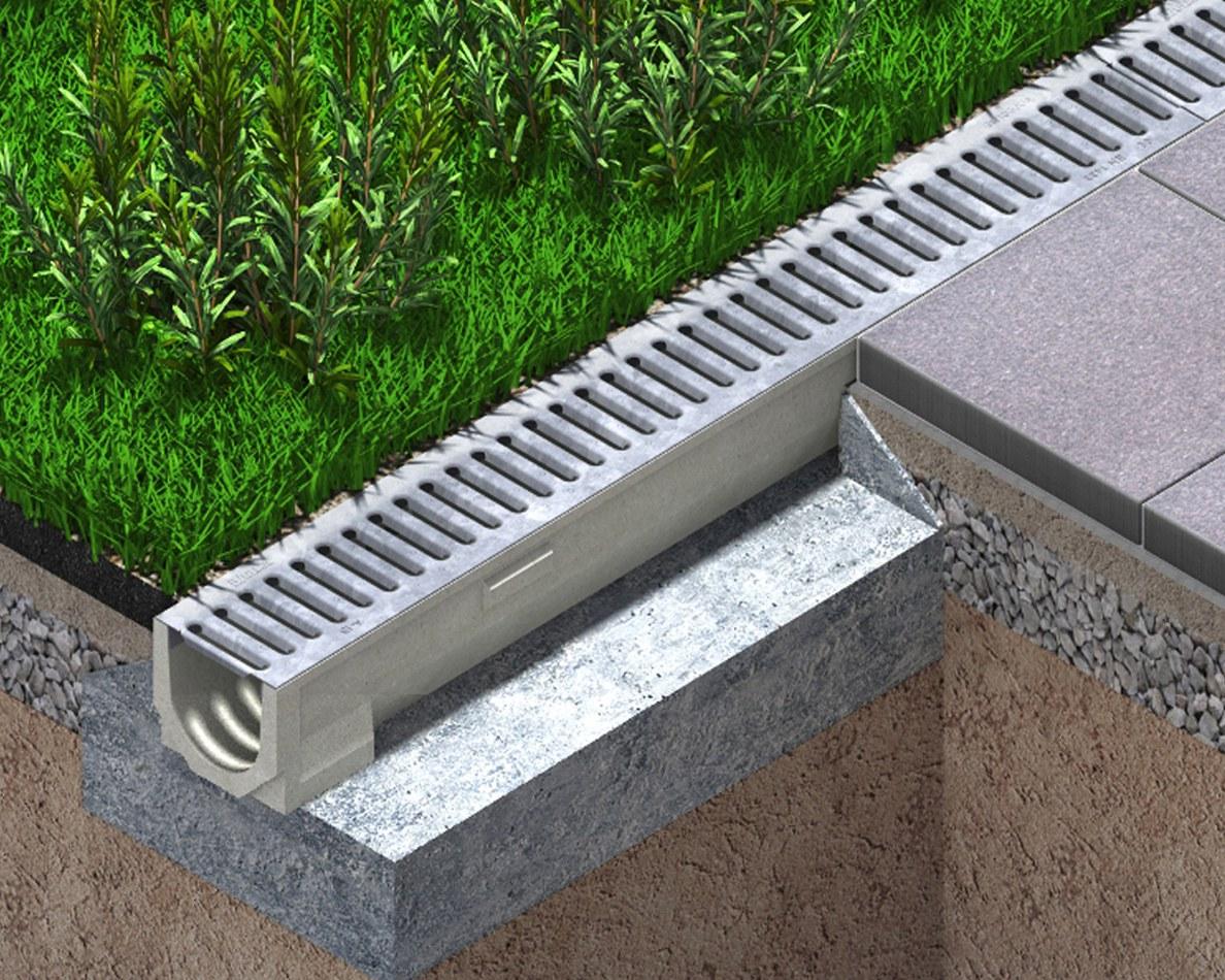 Patio drain channel SELF