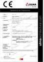 Declaration of performance - SELF Series