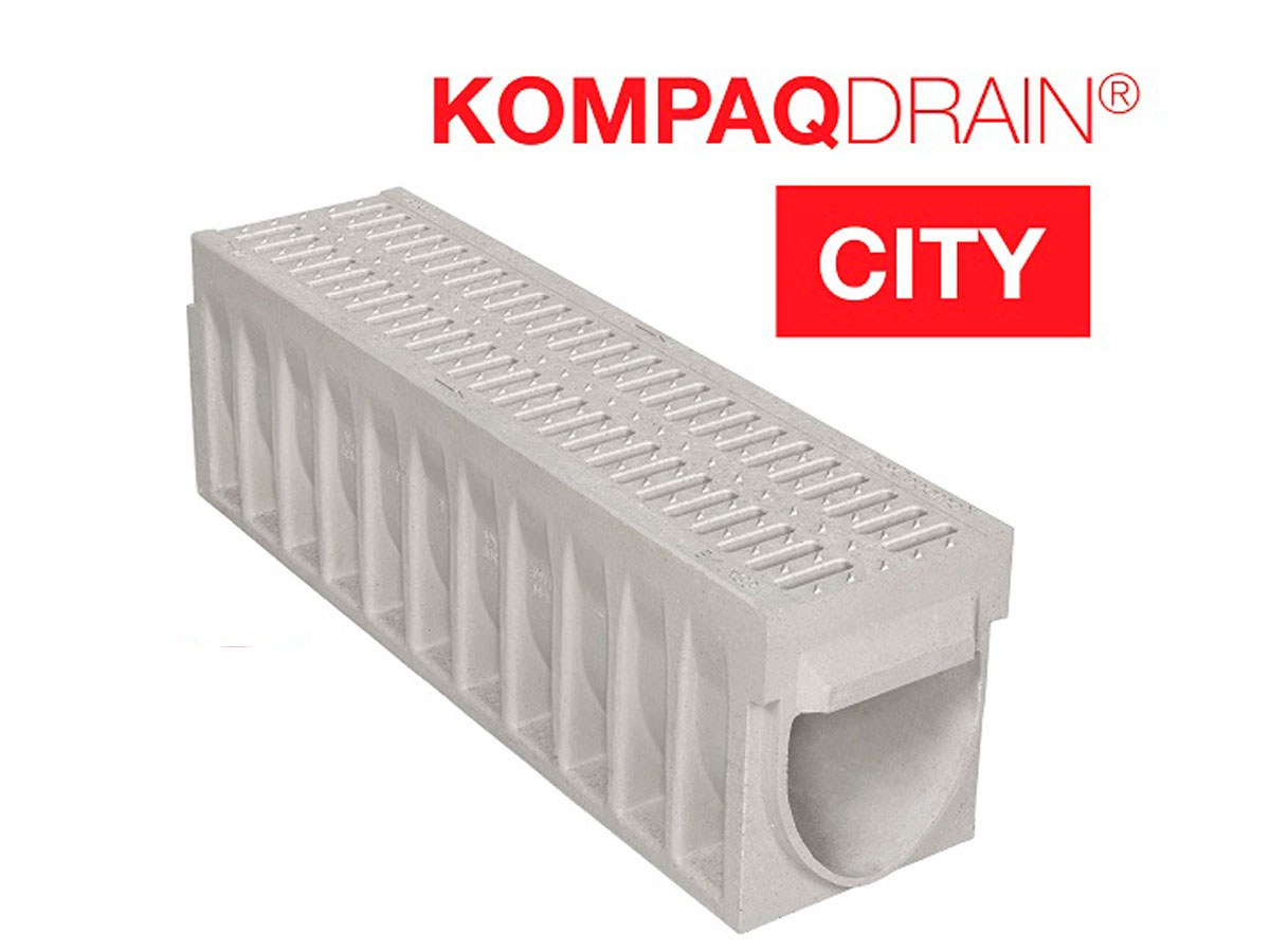 KompaqDrain® CITY trench drain – safety and accessibility