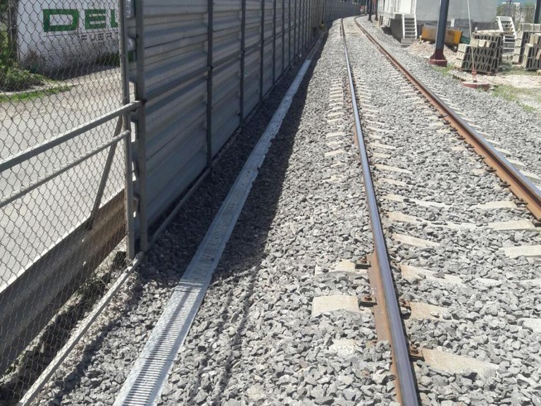 ULMA's drainage channels used in the Cuautitlan – Buenavista suburban train line tracks, in MEXICO