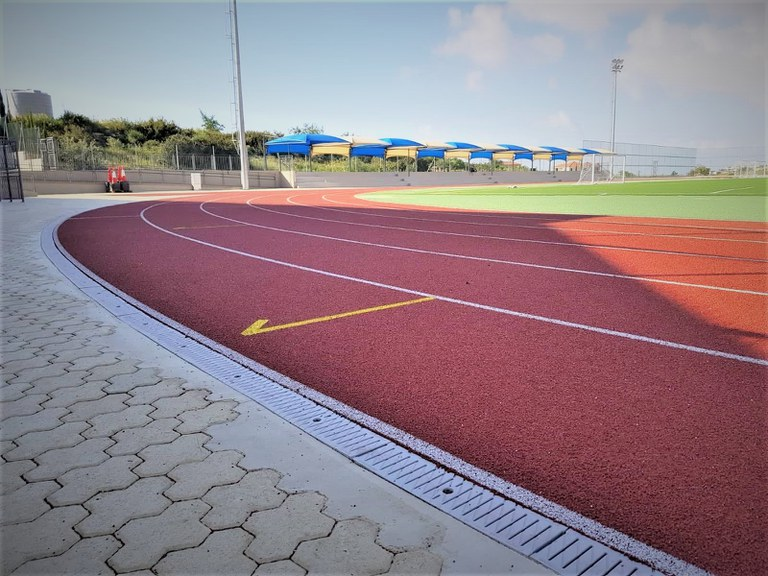 ULMA channels for the new sport area at Foley´s School in Cyprus