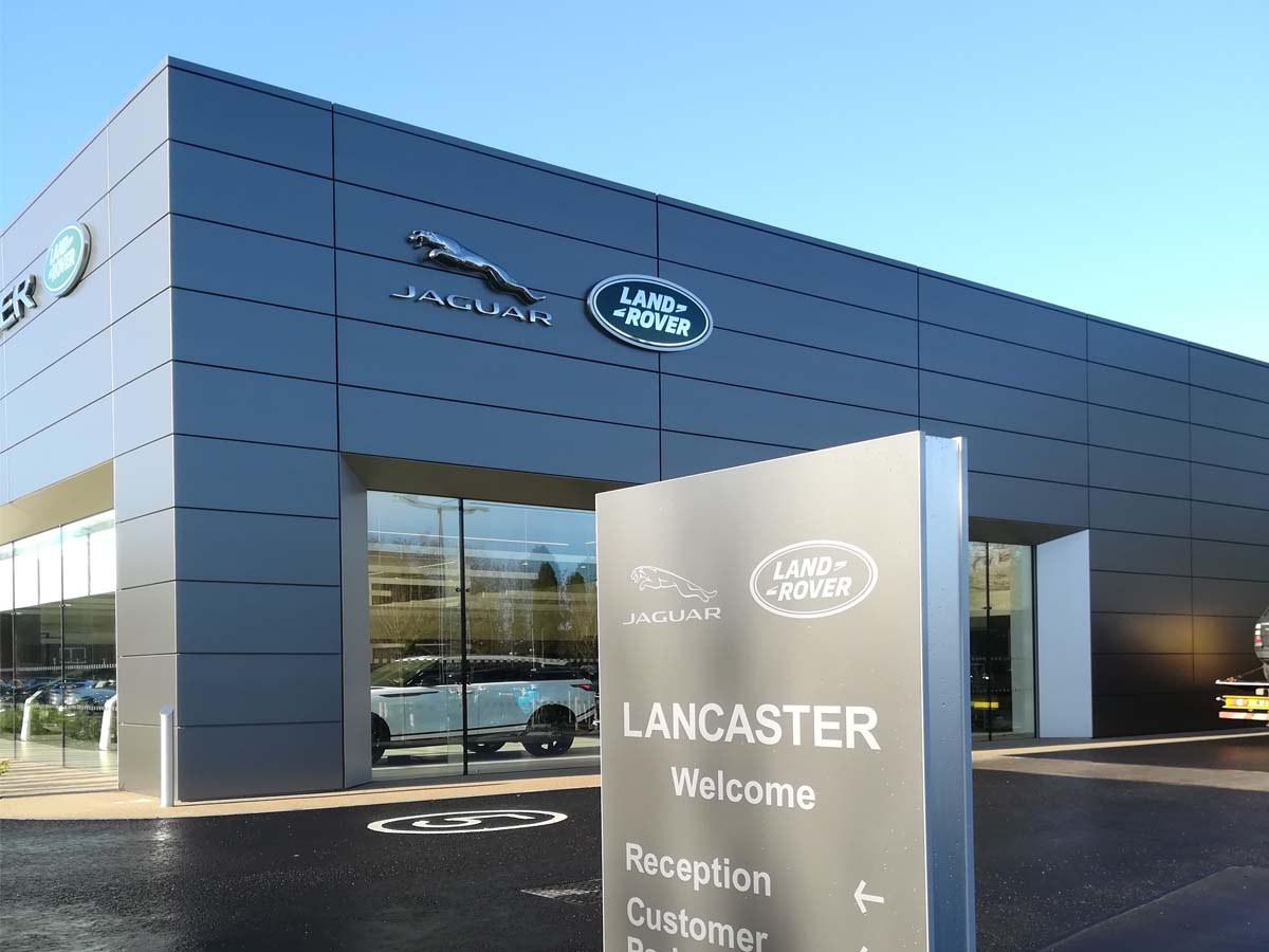 ULMA channels in the new showroom of Jaguar Land Rover in Tonbridge, United Kingdom