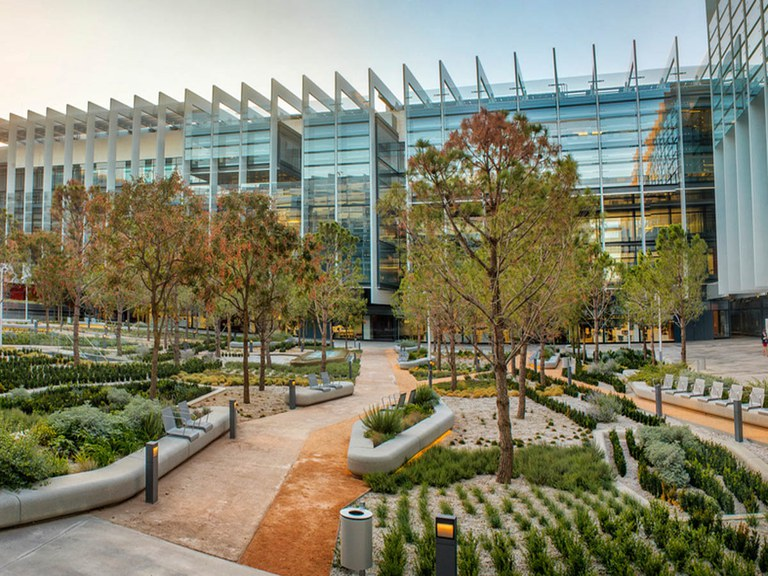 ULMA' s drainage solutions at -REPSOL CAMPUS  in Madrid