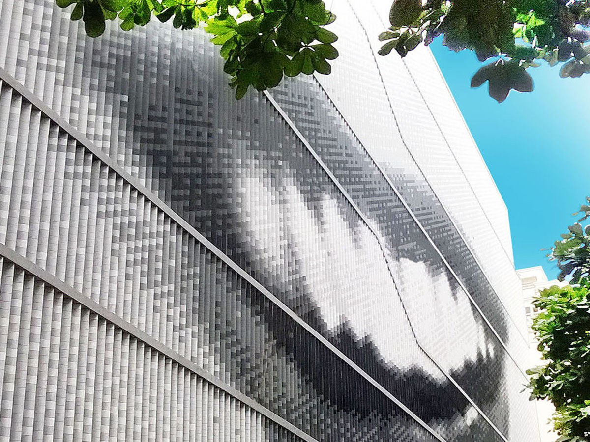 ULMA ventilated facade installed on The Museum MIS in Rio de Janeiro