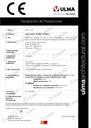 Declaración de prestaciones - Familia Multi V+