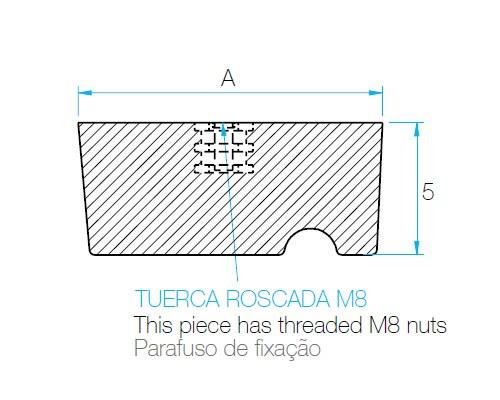 Modelo DCT - A -Tuerca roscante