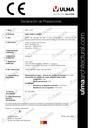 Declaración de prestaciones - Canal OCULTO