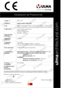 Declaración de prestaciones - Familia Euroself V+ H95 a H145