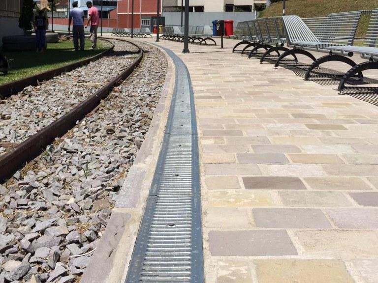 Plaza de tren en Caxias do Sul, RS - Brasil