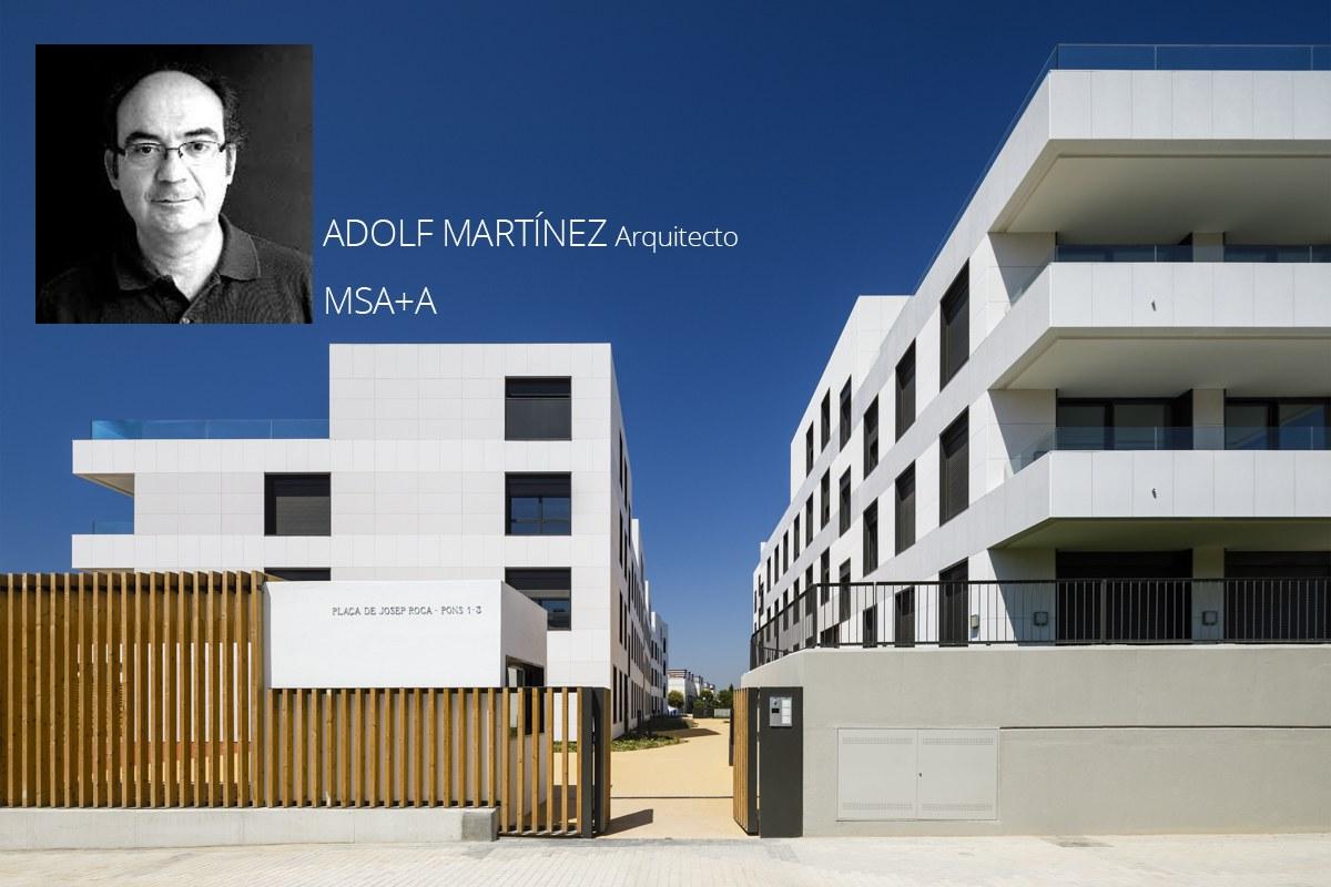 Entrevista con el arquitecto Adolf Martínez de MSA+A sobre el Conjunto Residencial en Plans D'aiguadolç, Sitges, Barcelona