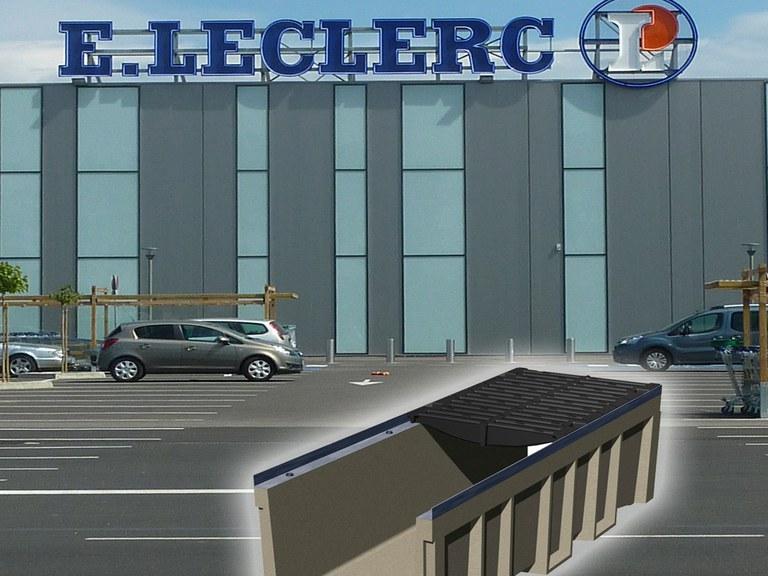 Perpignaneko LECLERC Merkatal Gunea - Frantzia