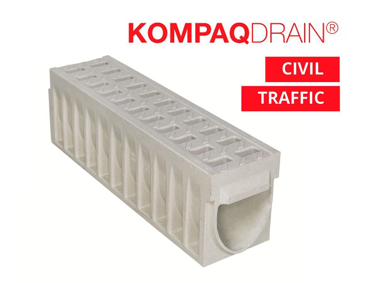 Caniveaux KompaqDrain®  CIVIL et TRAFFIC