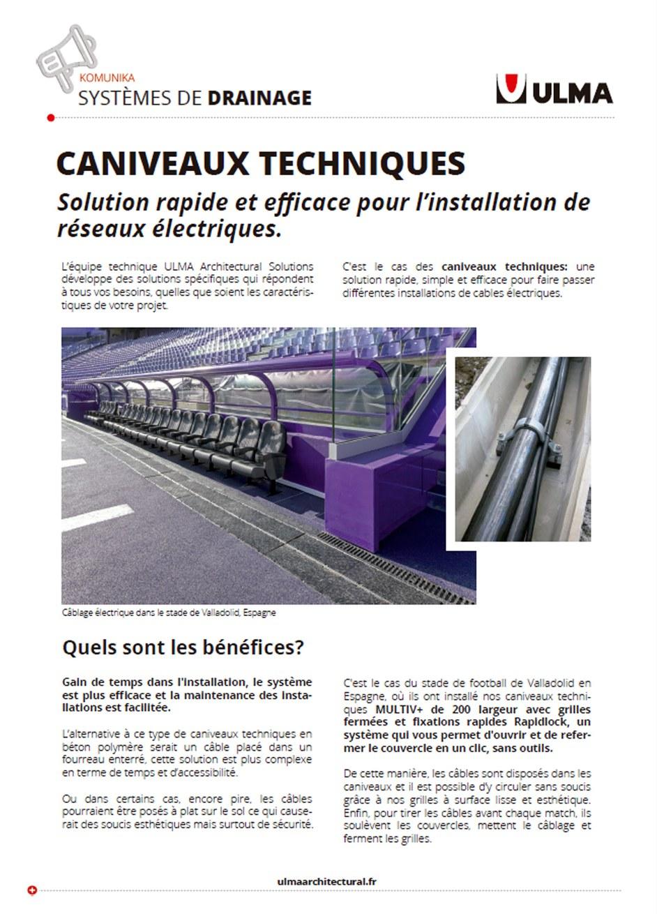 Caniveaux Techniques
