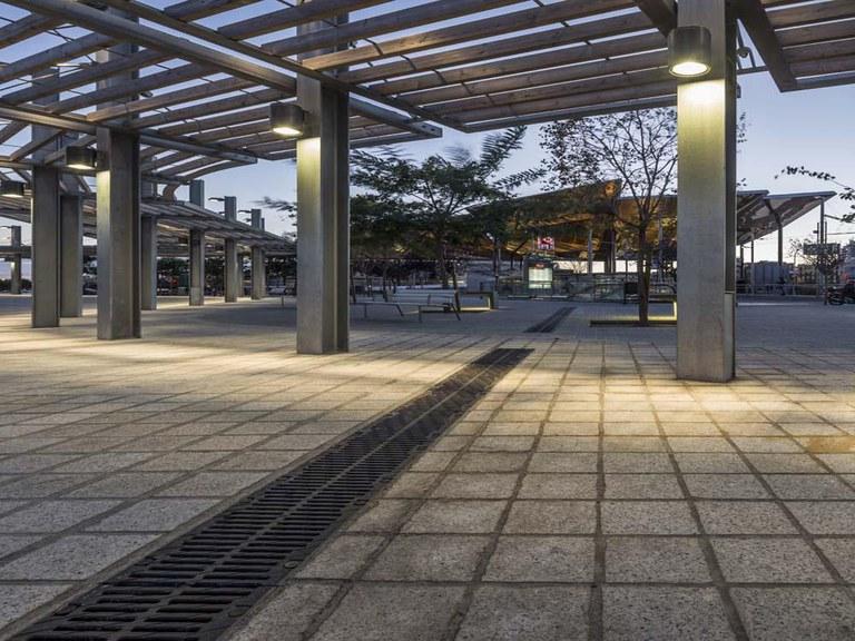 Systèmes de drainage ULMA à l'emplacement du Mercat dels Encants, à Barcelone