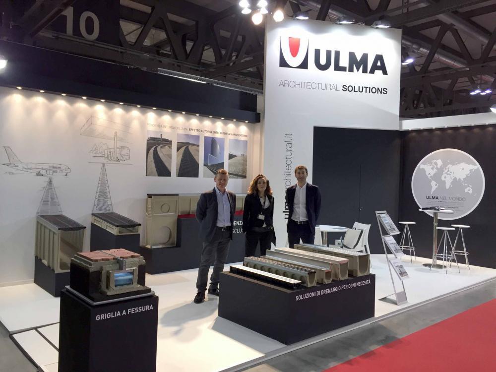 ULMA ha presentato la sua gamma di drenaggio nella Fiera MADE Expo di Milano