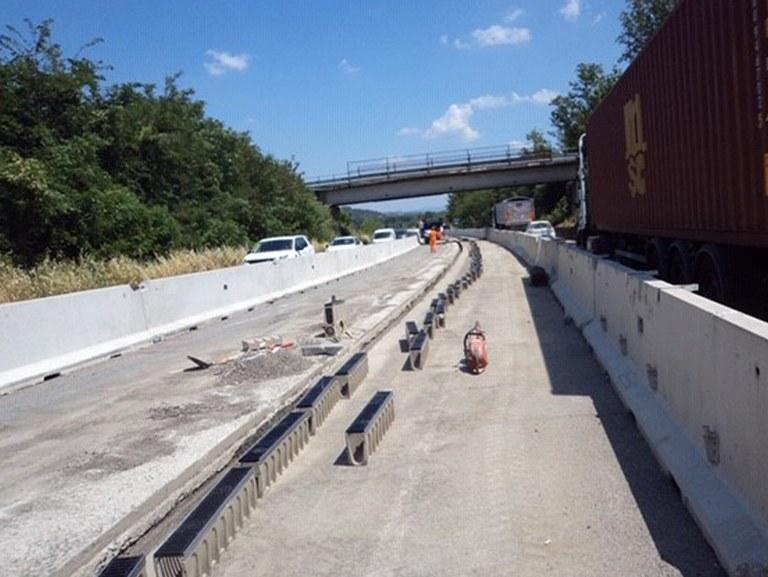 Canali ULMA sulla superstrada Firenze-Pisa-Livorno