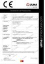 Declaração de características EUROSELF, EUROSELF200 e DOMO