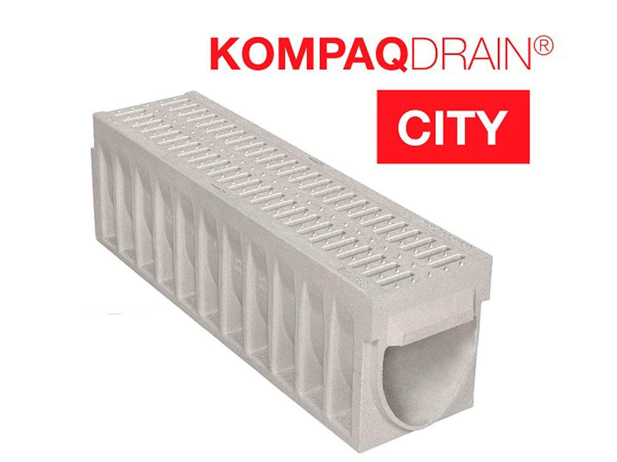 Canais KompaqDrain® CITY — segurança e acessibilidade