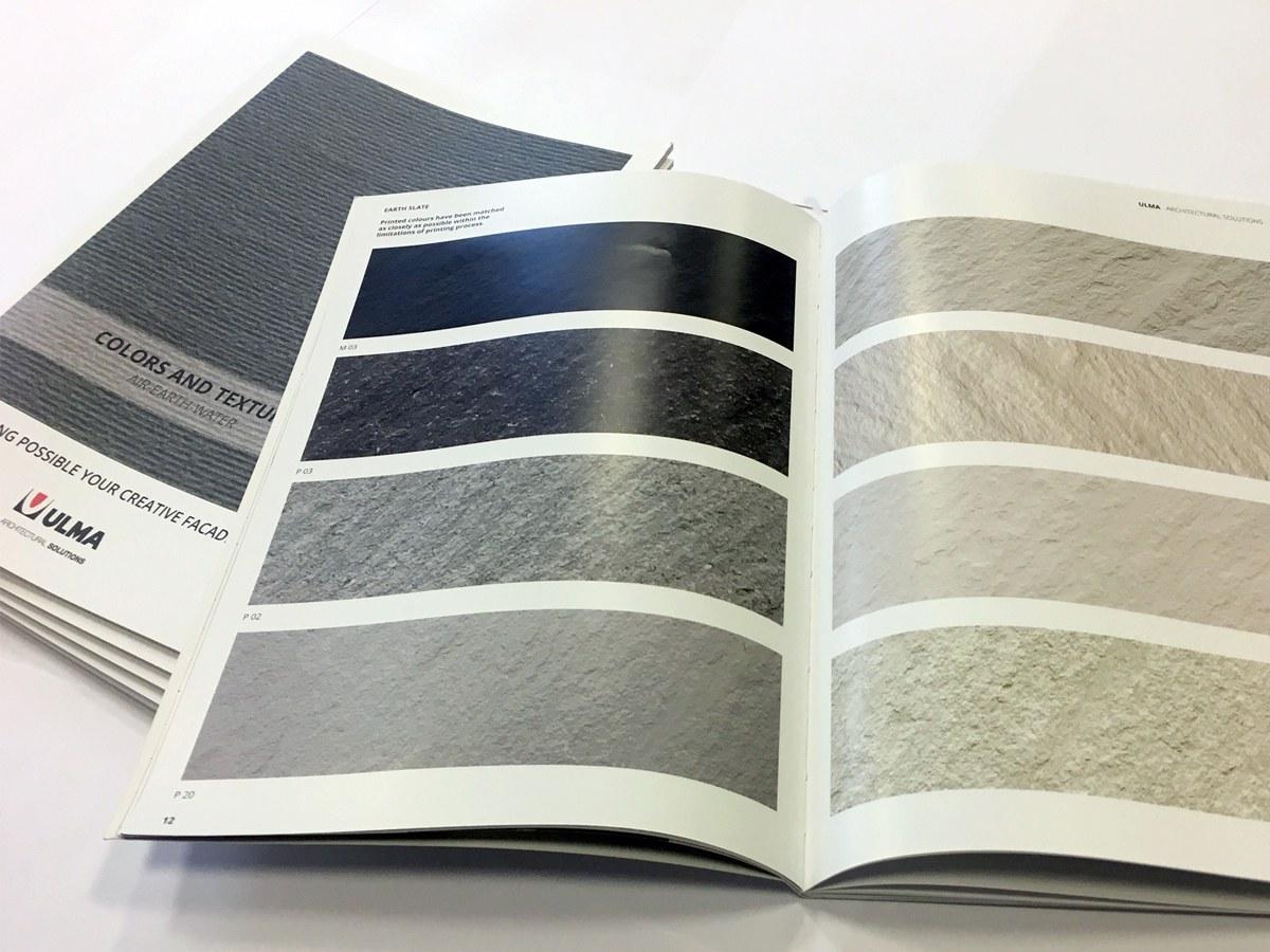 Novo catálogo de cores e texturas