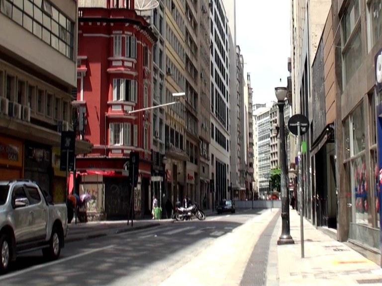 Calçadão da Rua Sete de Abril em São Paulo