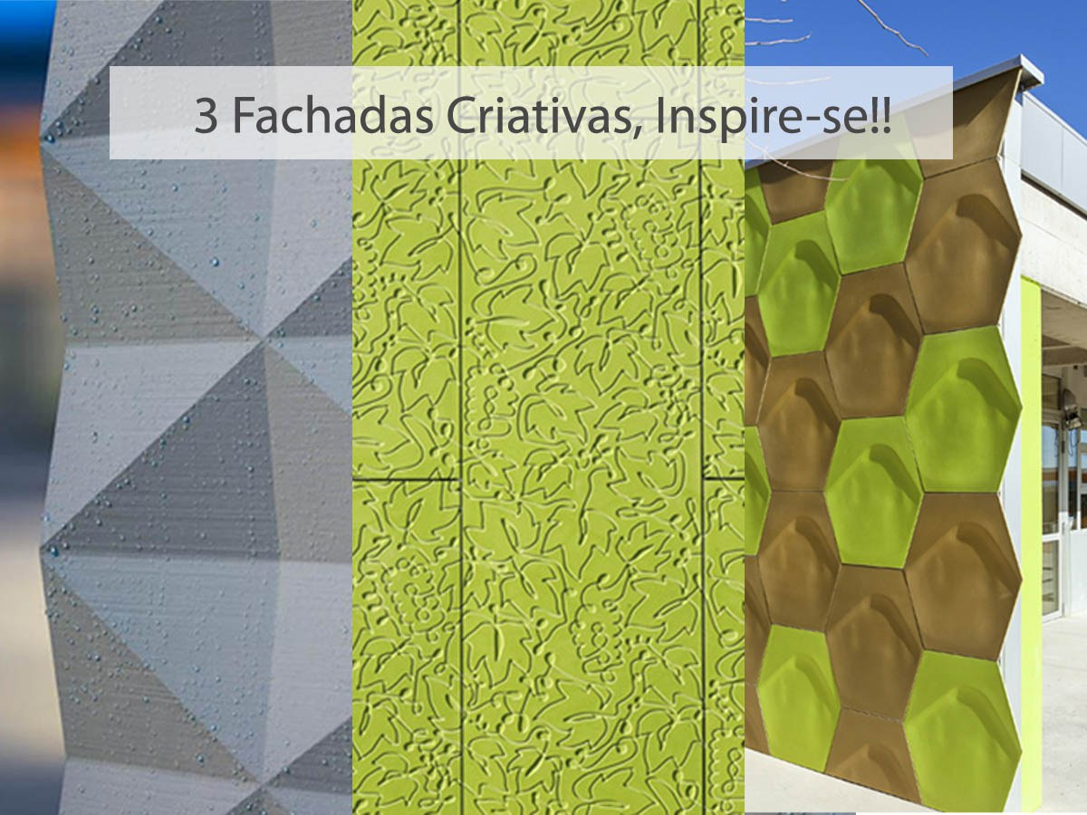 3 Fachadas Ventiladas Creativas, Inspire-se!!